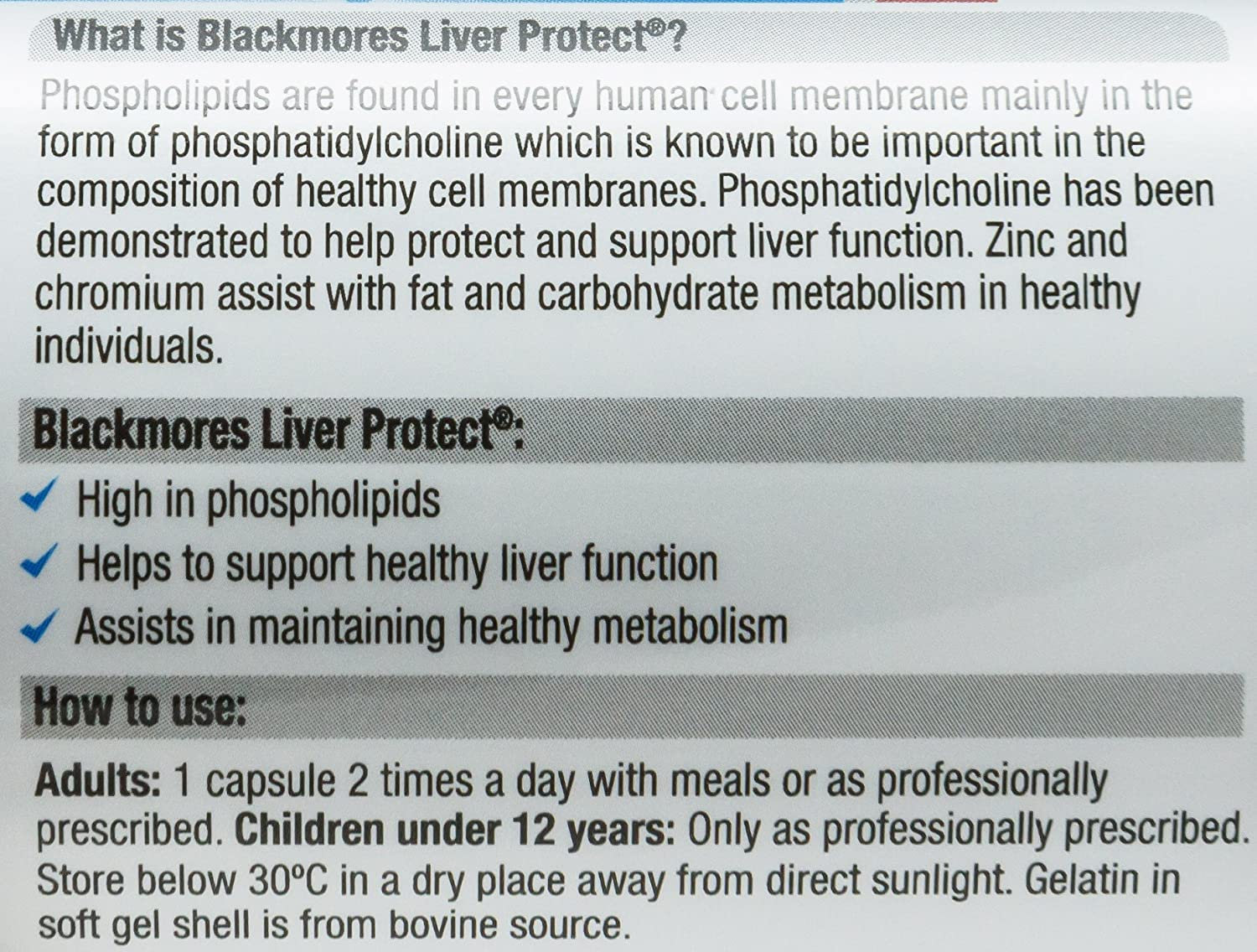 Amazon.com: blackmores Hígado Proteger 60 caps: Health ...