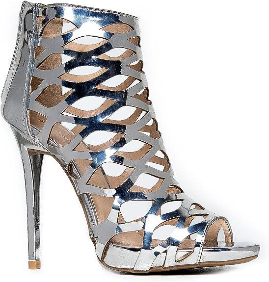 Details about  /Women High Heel Stiletto Peep Toe Back Zip Party Shoes Cut out Sandals 44//47 L