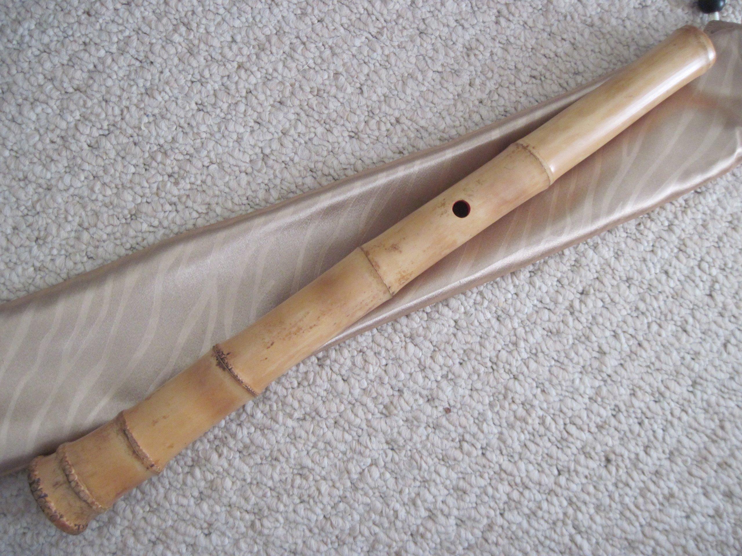 1.6 Pentatonic Shakuhachi with Root End 5 Holes Kinko Wudaguji inlet with buffalo horn flake- Traditional Zen Instrument by Dragon Jing (Image #6)
