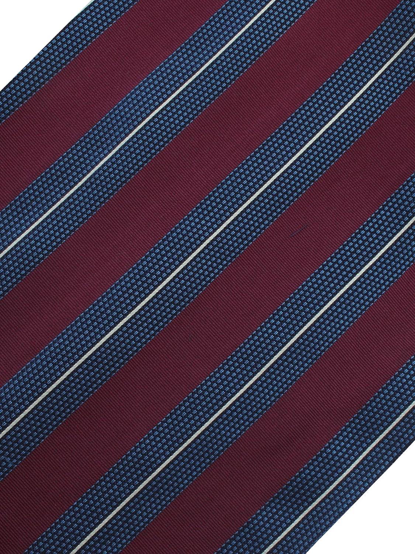 [エバーグレイス] ネクタイ オーダー メイド ストライプ ワインレッド 巾8.5cm 長さ148cm  B07S3J17LK