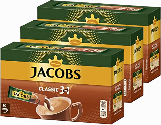Jacobs 3-in-1 café soluble, café instantáneo, 3 Pack, 3 x 10 ...