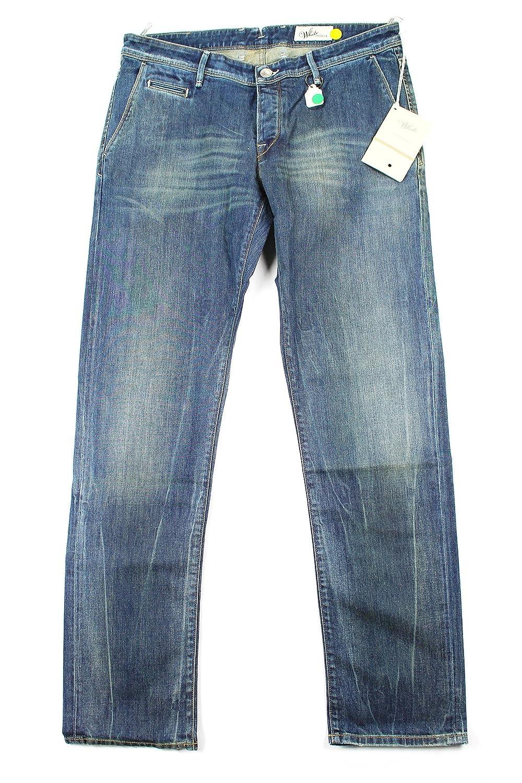 Siviglia Womens Straight Leg Jeans Size 36 Regular Blue Cotton Blend
