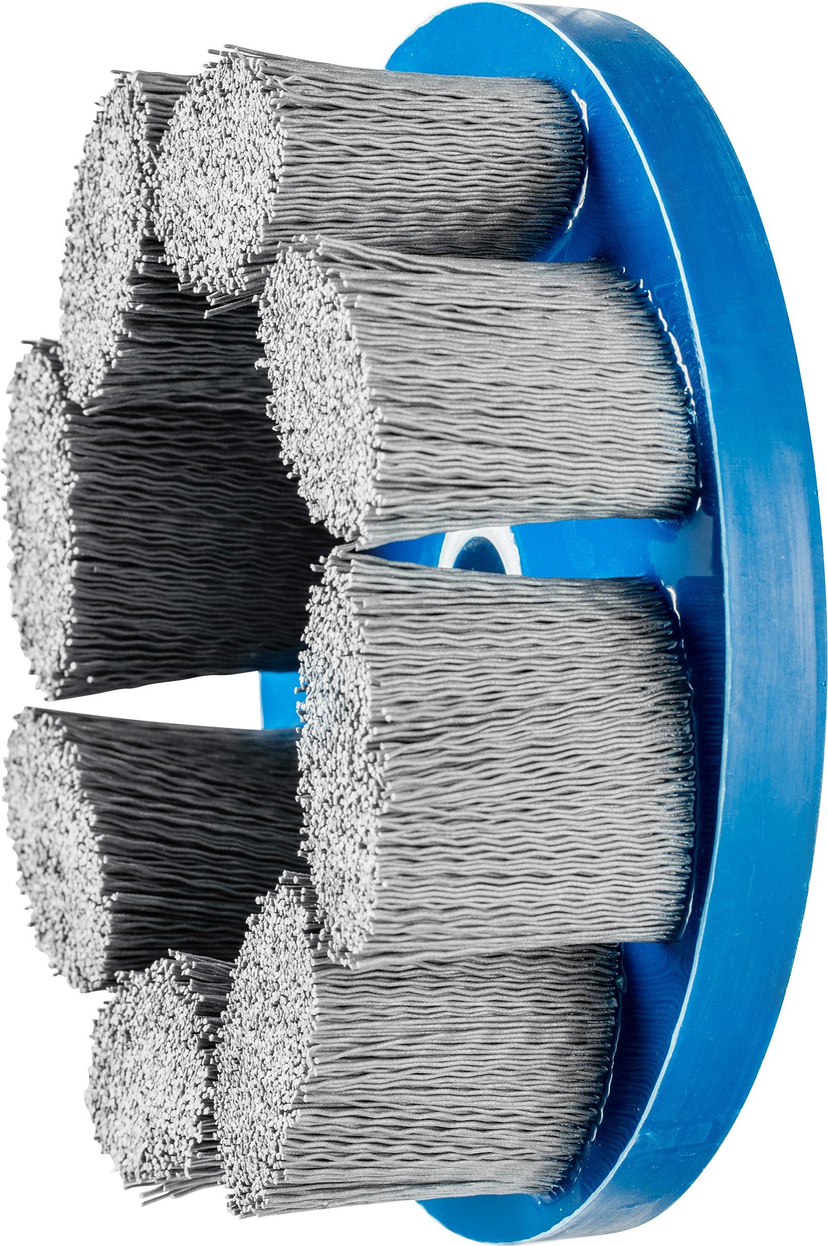 PFERD 83952 M-Brad Standard Density Composite Disc Brush, Silicon Carbide, 6'' Diameter, 0.022 Round Filament, 2500 rpm, 320 Grit