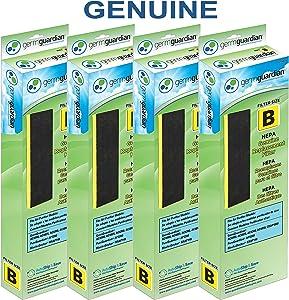 Germ Guardian FLT48254PK True HEPA GENUINE Air Purifier Replacement Filter B Multi-Pack for GermGuardian AC4300BPTCA, AC4900CA, AC4825, AC4825DLX, AC4850PT, CDAP4500BCA, CDAP4500WCA and More, 4-Pack