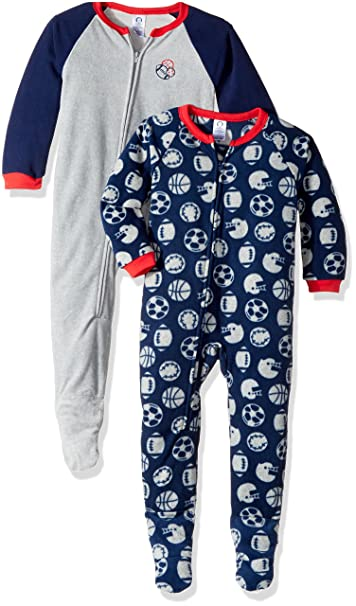 7409be2f107b Amazon.com  Gerber Boys  2-Pack Blanket Sleeper  Clothing