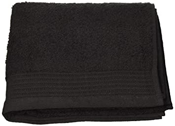 Just Contempo - Toalla (algodón Egipcio, Suave, 600 gsm), Toalla de Manos (50 x 85 cm), Negro: Amazon.es: Hogar