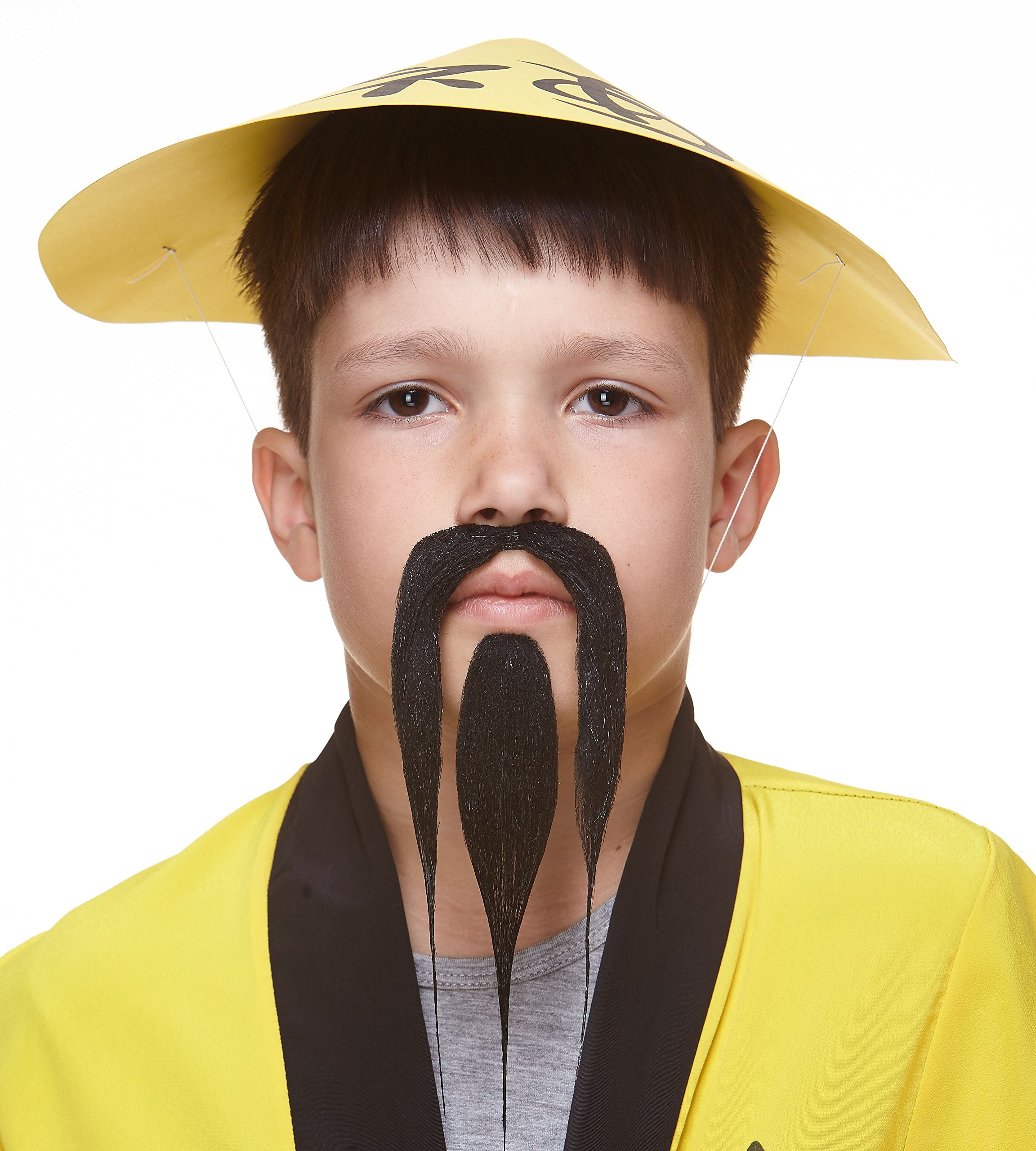 Mustaches Self Adhesive, Novelty, Fake, Small Shaolin Beard and, Black Color