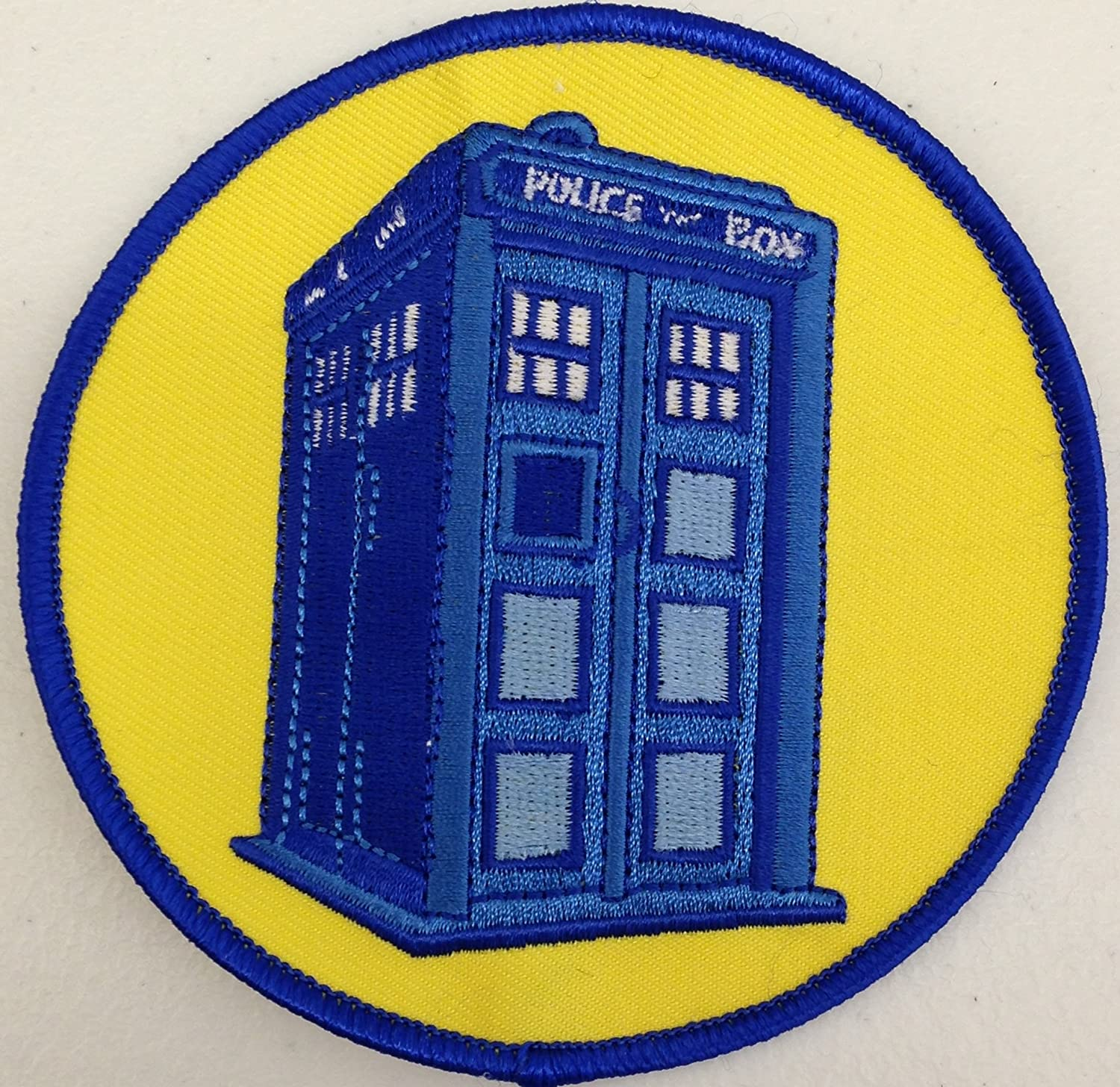 "DOCTOR WHO YELLOW  DALEK 3/"" Tall Embroidered PATCH"