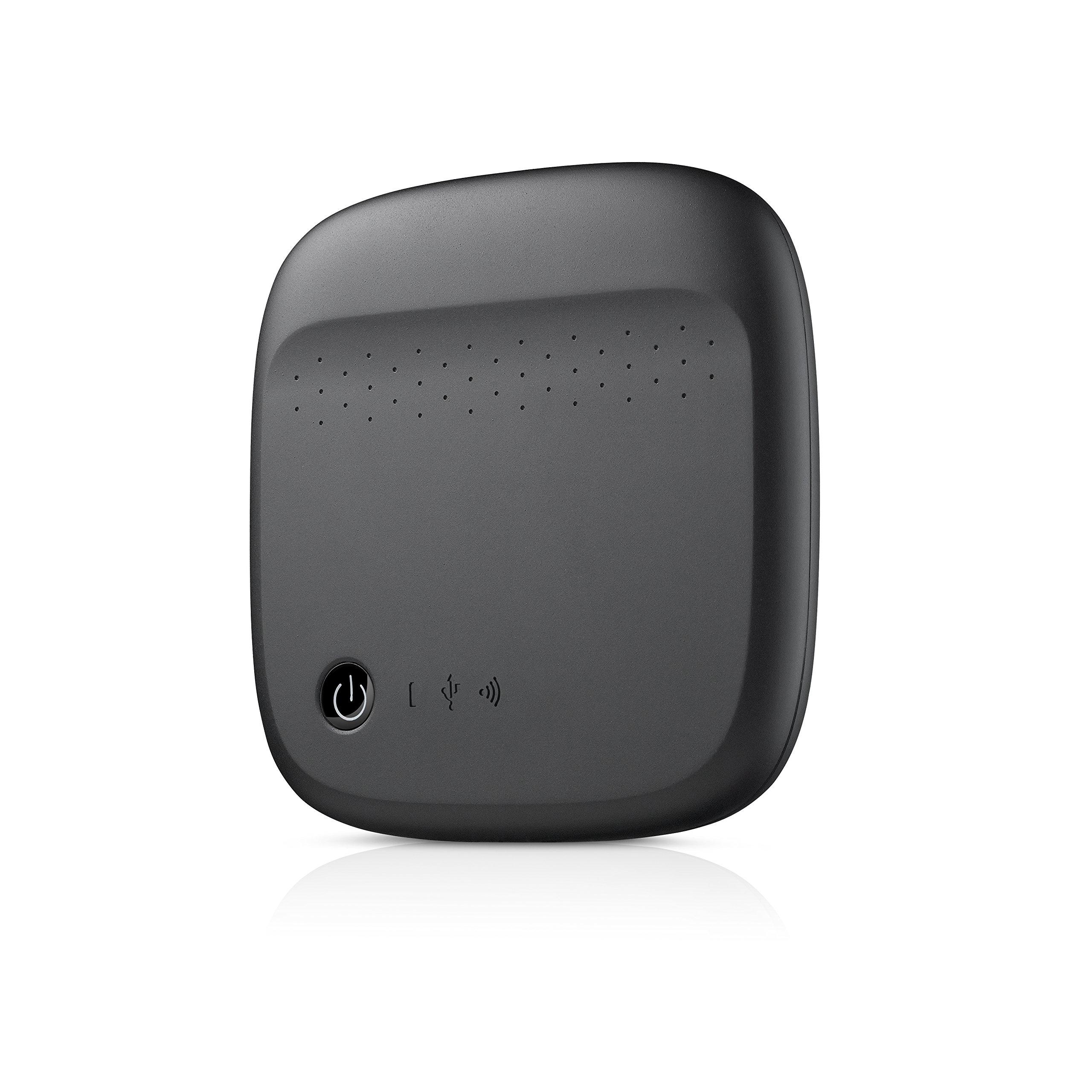 Seagate Wireless Mobile Portable Hard Drive Storage 500GB STDC500100 (Black) by Seagate