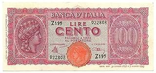 Cartamoneta.com 100 Lire Italia TURRITA Testina 10/12/1944 SUP