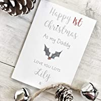 Daddy's Personalised First Christmas Card