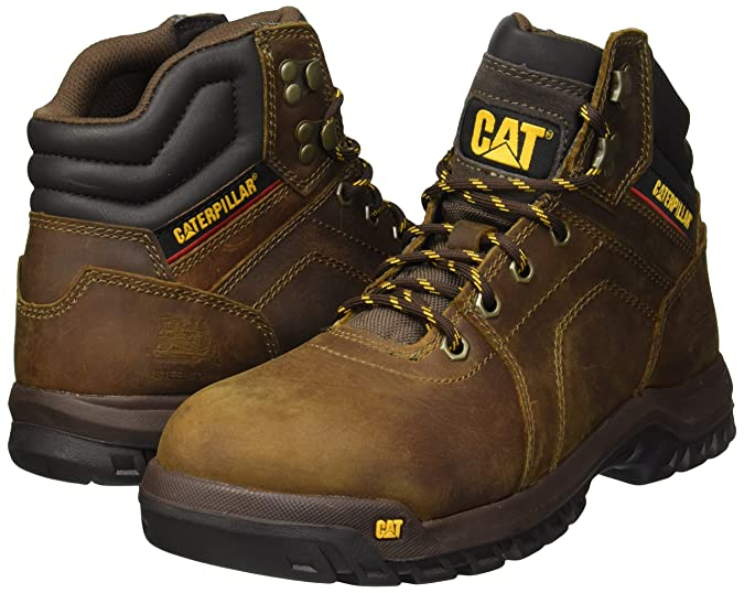 Amazon.com: Caterpillar Mens Diffuse Steel Toe Industrial Boot, Brown, 11 Wide US: Shoes