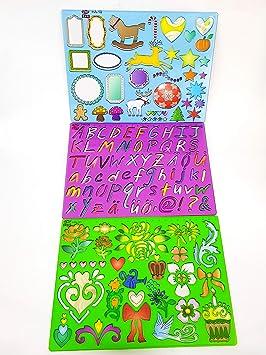 Takestop Regla Ruler Diseño Dibujos Círculo Corazón Animal Letras