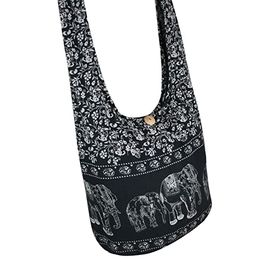 ca58b2844638 Tonka Cotton Elephant Hippie Hobo Bag Crossbody Messenger Bags Bohemian  Shoulder Bags Pure