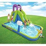 MAGIC UNION Magic Time Tornado Twist Inflatable Water Slide and Splash Pool