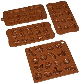 Candy molde - para repostería molde - Chocolate de silicona moldes - personajes de dibujos animados, de cabezas de animales, y los insectos, ...