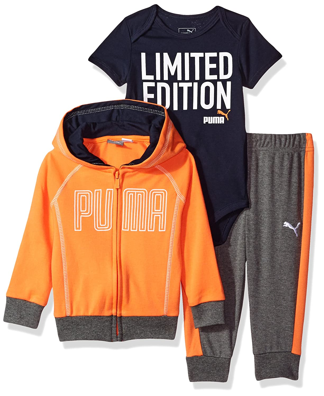 PUMA Baby-Boys Baby Boys Boys' Three Piece Interlock Set