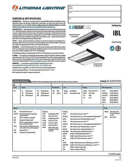 lithonia ibz wiring diagram lithonia image wiring amazon com lithonia lighting ibl 18l wd lp740 dlc led industrial on lithonia ibz wiring diagram
