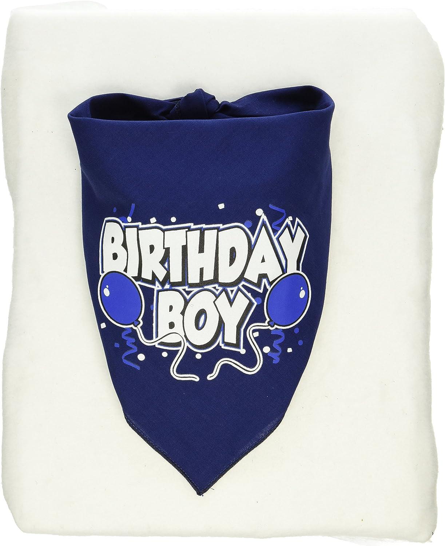 Mirage Birthday Boy Screen Print Bandana White Large