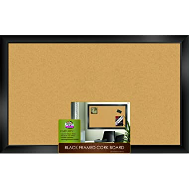 The Board Dudes Black Framed Cork Board 35  X 22
