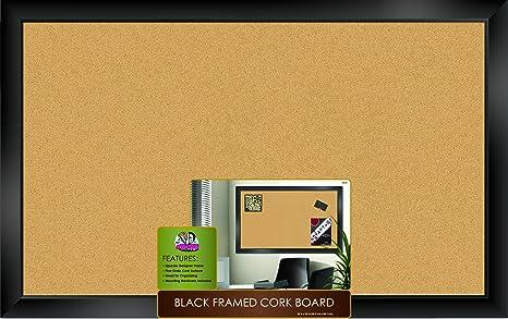 The Board Dudes Black Framed Cork Board 35u0026quot; ...