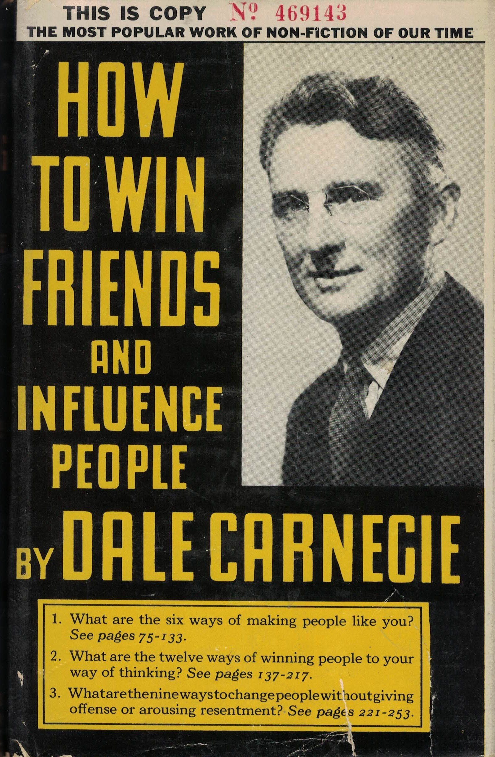 How To Win Friends And Influence People By Dale Carnegie Hardback 1937:  Dale Carnegie, Lowell Thomas: Amazon: Books
