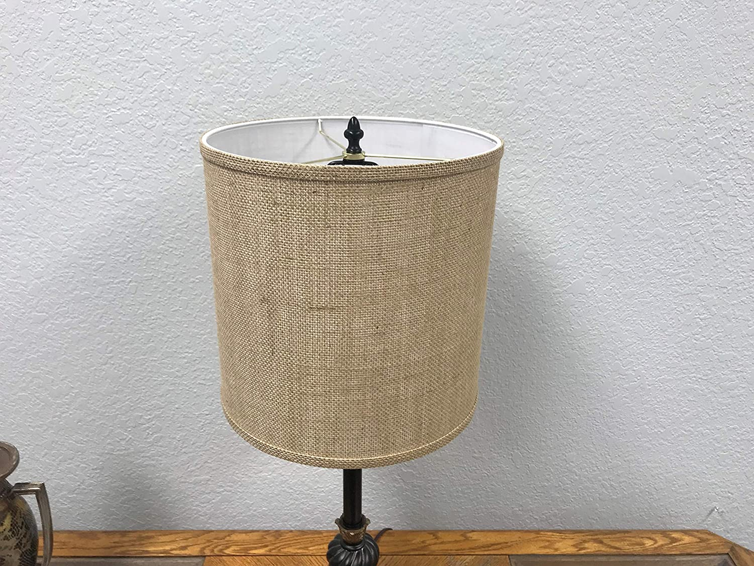 Burlap Lamp Shade For Rustic Lamp