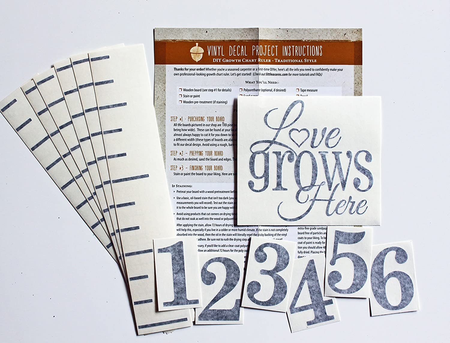Amazon Diy Vinyl Growth Chart Ruler Decal Kit Our Growing
