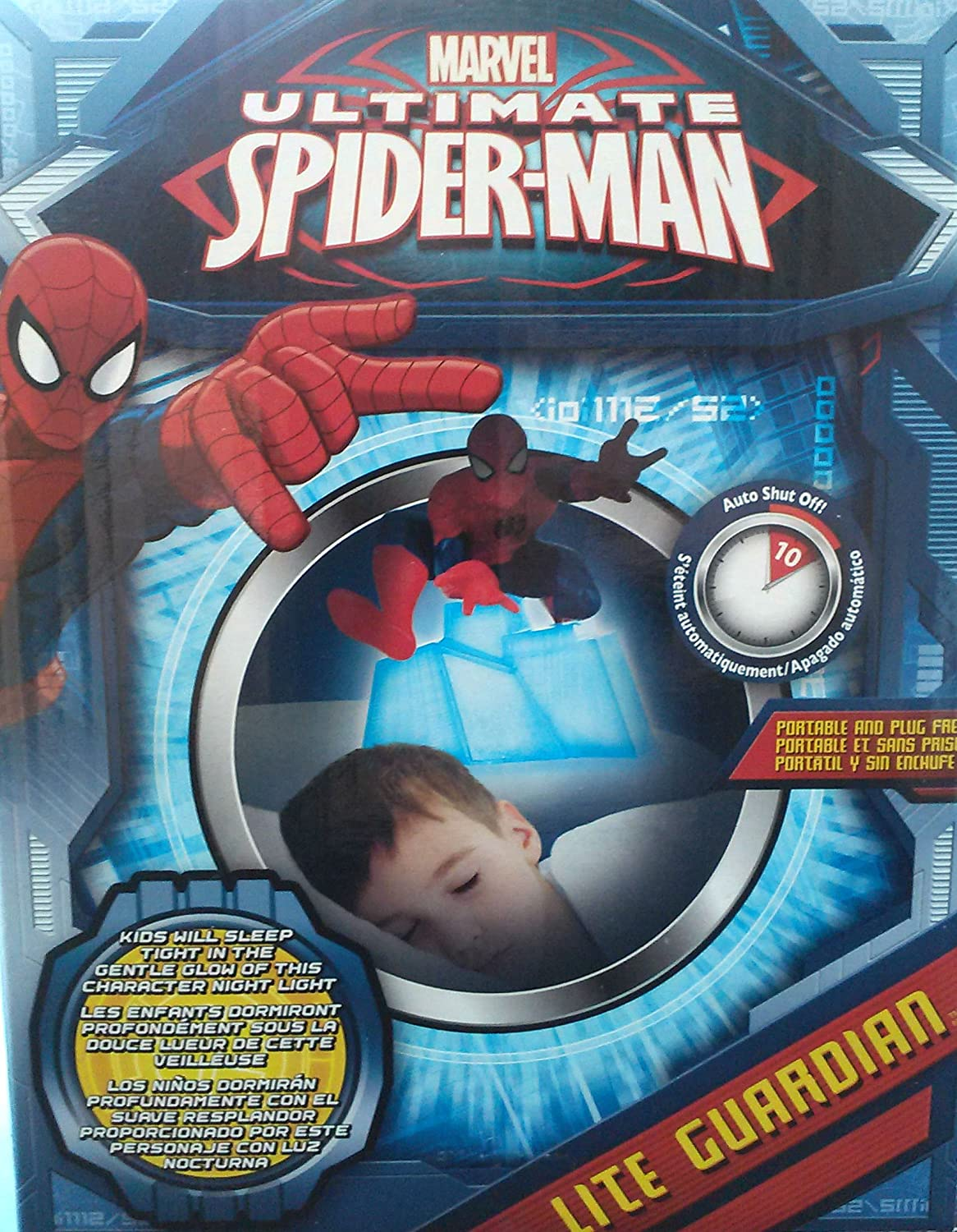 Amazon.com: Night Light For Kids Room Spotlight (The Ultimate Spider Man): Home & Kitchen