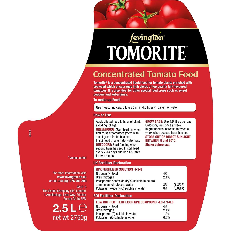 Levington Tomorite Concentrated Tomato Food 2 5L