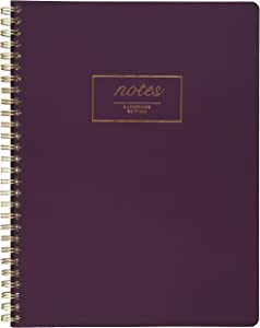 "Mead Cambridge Meeting Spiral Notebook, Legal Ruled, Soft Cover Business Journal, 9-1/2"" x 7-1/4"", Wirebound Memo Notepads, Cute Stationery Supplies for Home Office, 80 Sheets, Purple (49556)"