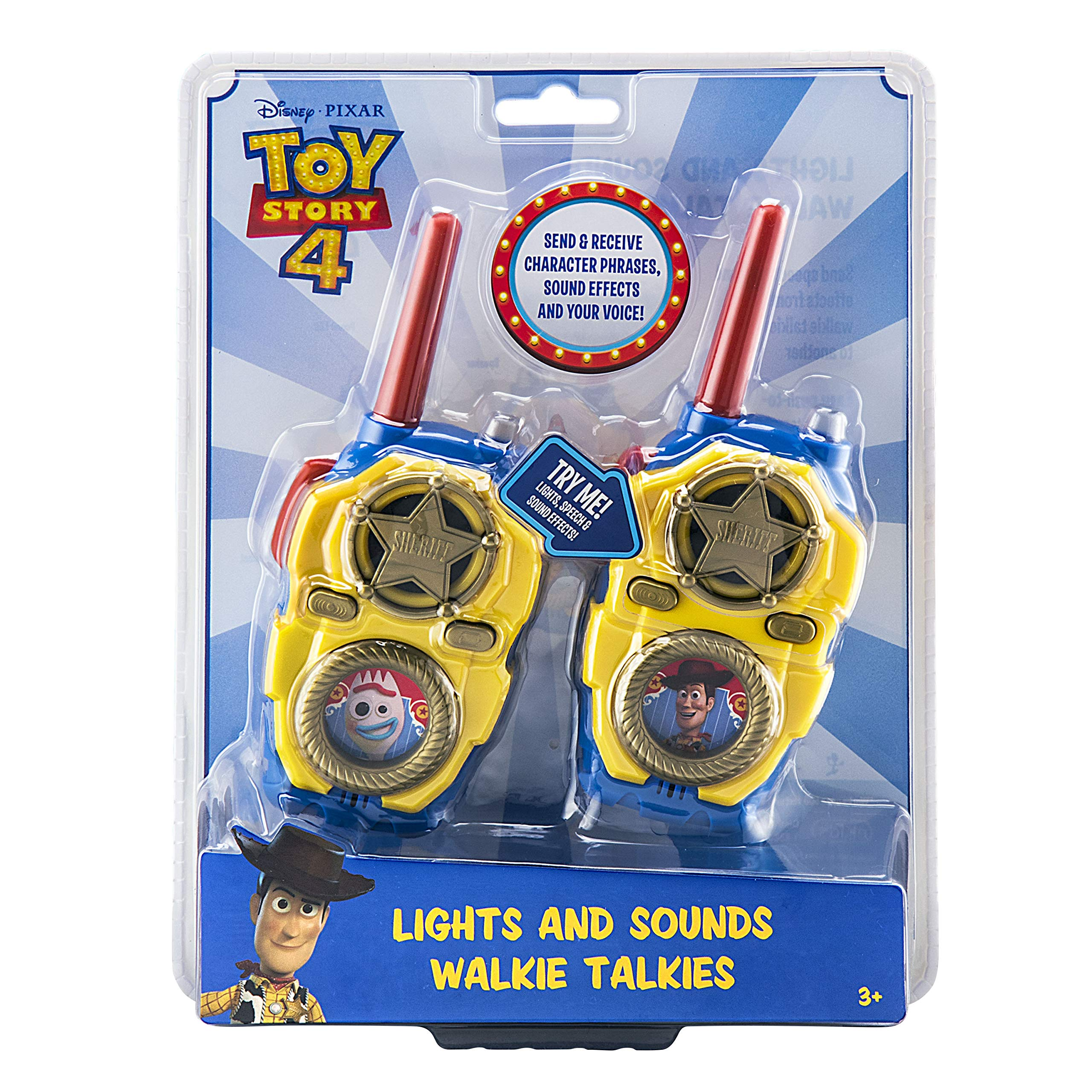eKids Toy Story 4 FRS Walkie Talkies with Lights and Sounds Kid Friendly Easy to Use by eKids (Image #5)