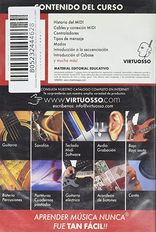 Amazon.com: Virtuosso MIDI Editing Method Vol.1 (Curso De Edición De Midi Vol.1) SPANISH ONLY: Musical Instruments