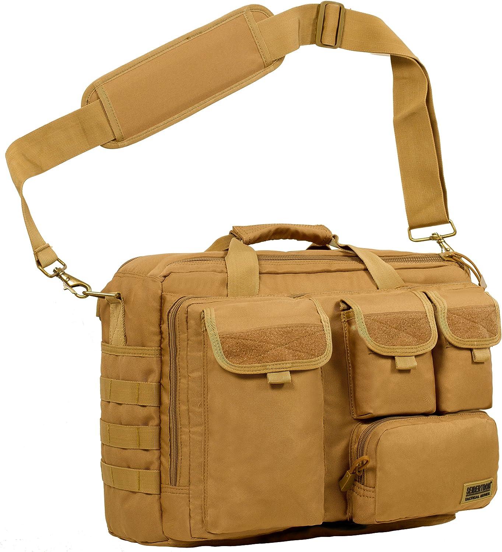"Seibertron Pro-Multifunction Shoulder Messenger Bag Fit for 14.1"" Laptop Khaki"