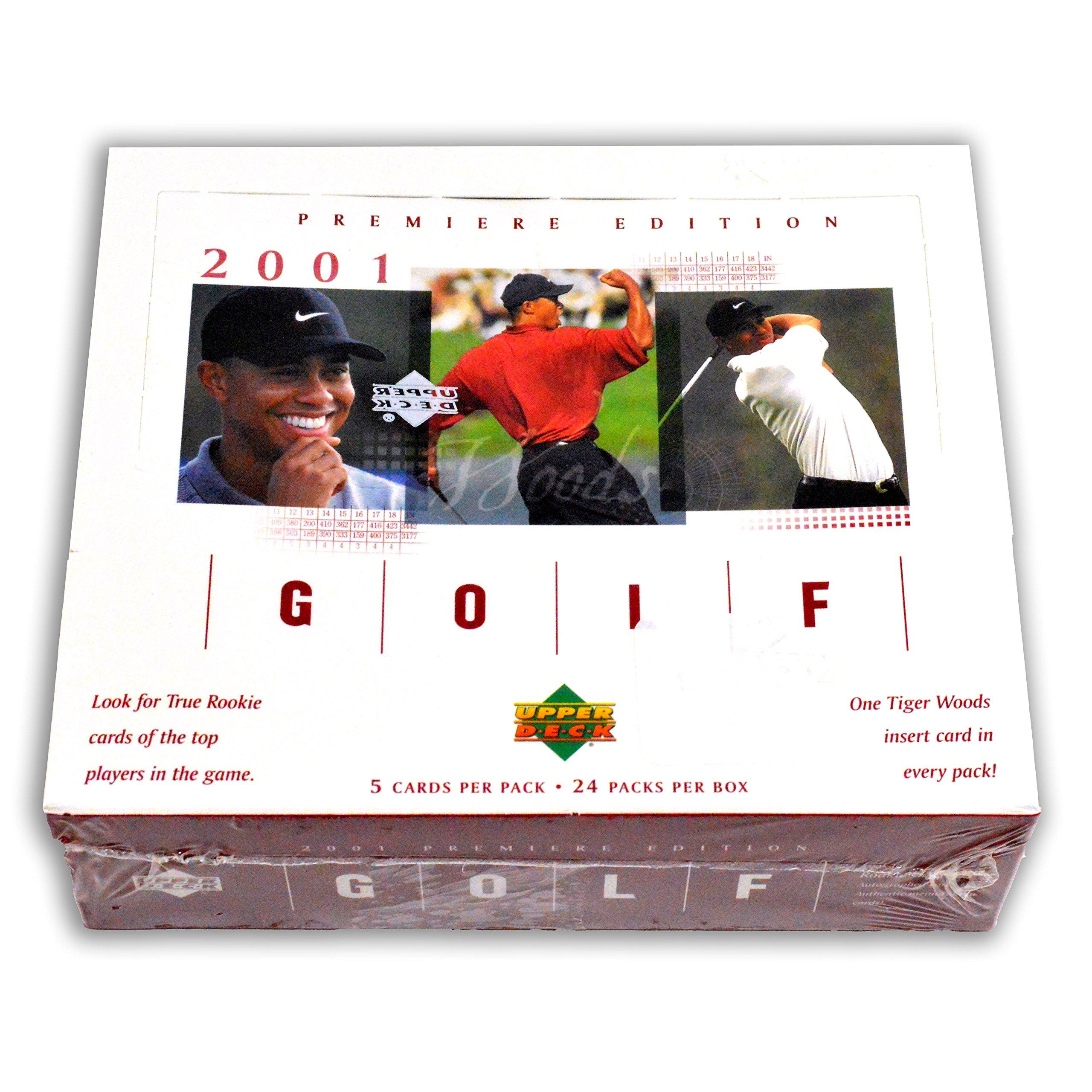 2001 Upper Deck Golf Retail RED Box 24 packs TIGER WOODS R/C, R/C Auto card?