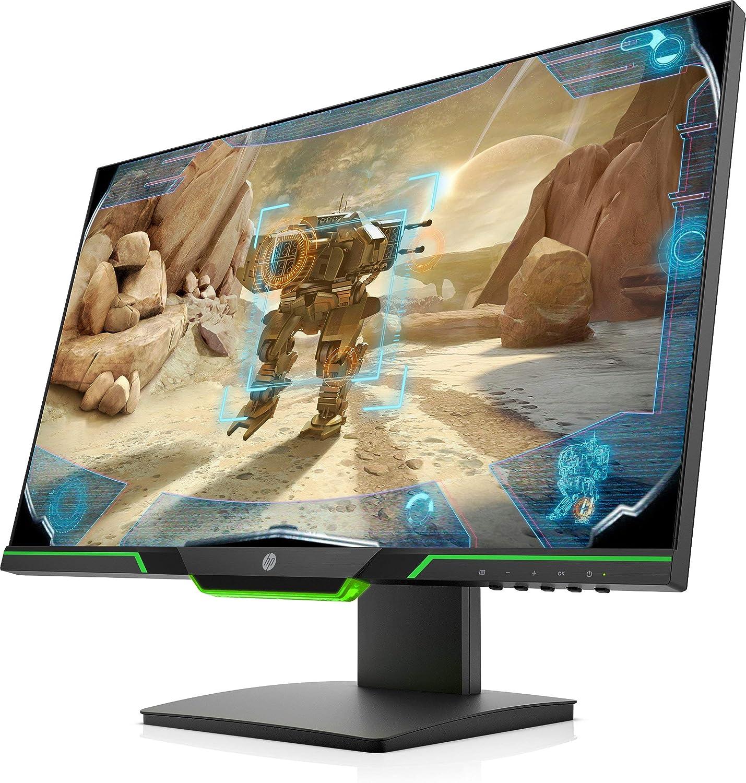 HP 25x - Monitor Gaming de 24.5 Full HD (1920x1080, TN, 16:9 HDMI 2.0, DisplayPort 1.2, 1ms, 144 Hz, AMD FreeSync, Low Blue Light, Ajustable en Altura), negro y verde: Hp-Inc: Amazon.es: Informática