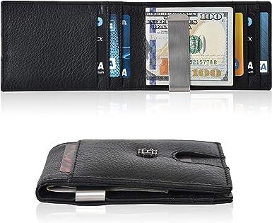 Credit Card Holder Money Clip Minimalist Front Pocket Wallet Modern Slim Case