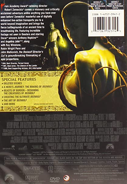 Amazoncom Beowulf Unrated Directors Cut Ray Winstone Crispin