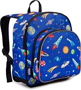 Wildkin 12 Inches Backpack for Toddlers, Boys and Girls, Ideal for Daycare, Preschool and Kindergarten, Perfect Size for School and Travel, Mom's Choice Award Winner, Olive Kids (Out of this World)
