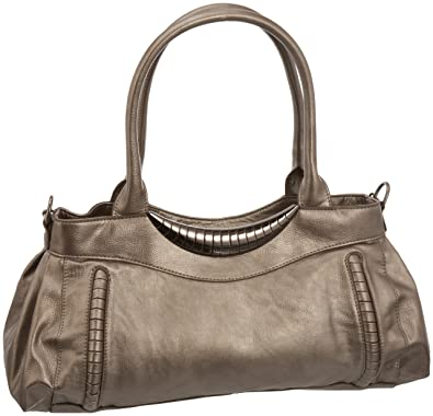 f353ae4f527c Fiorelli Women s Travolta Shoulder Bag Pewter Medium  Amazon.co.uk ...