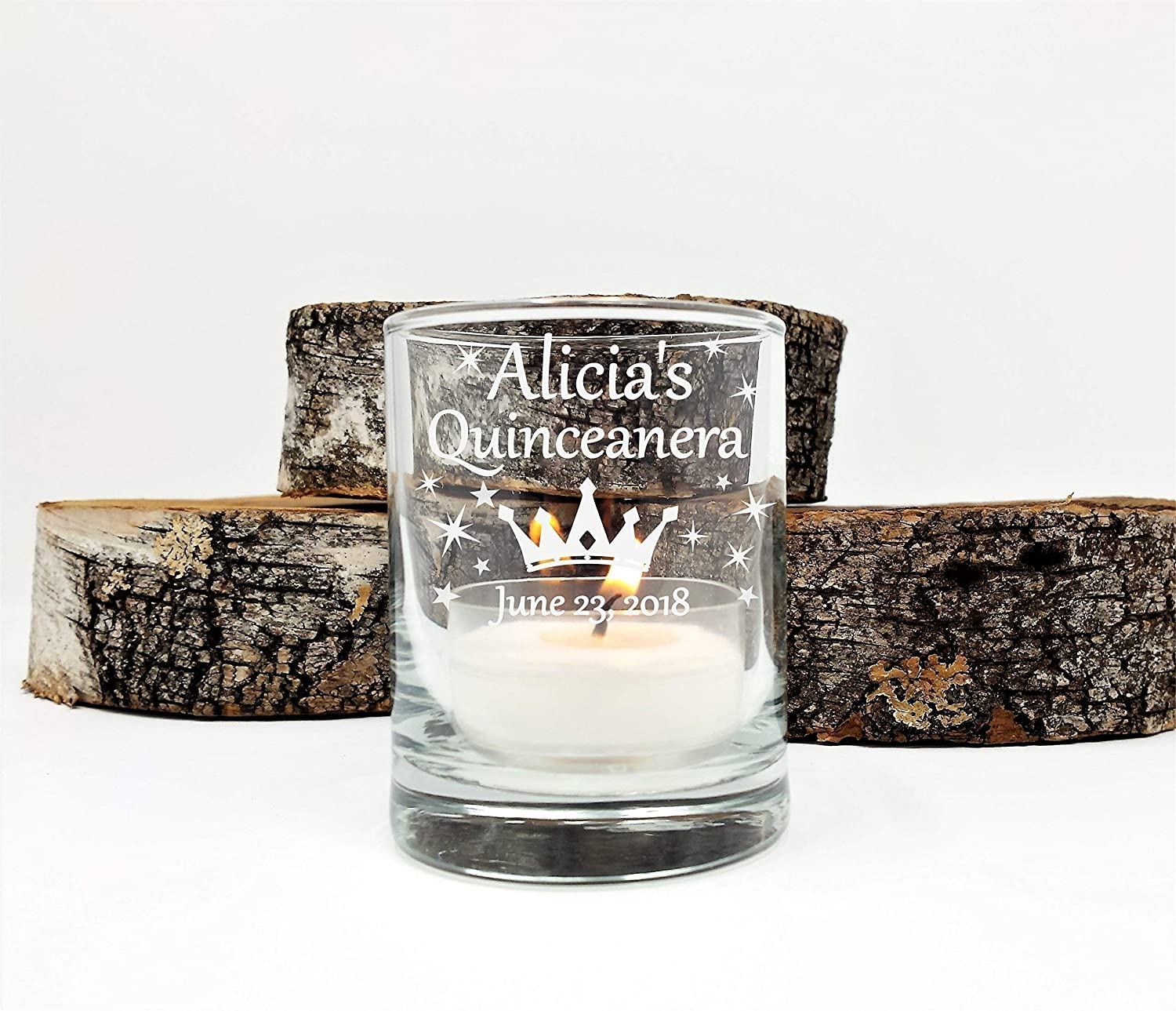 Amazon Com Quinceanera Personalized Party Favors Engraved Candle