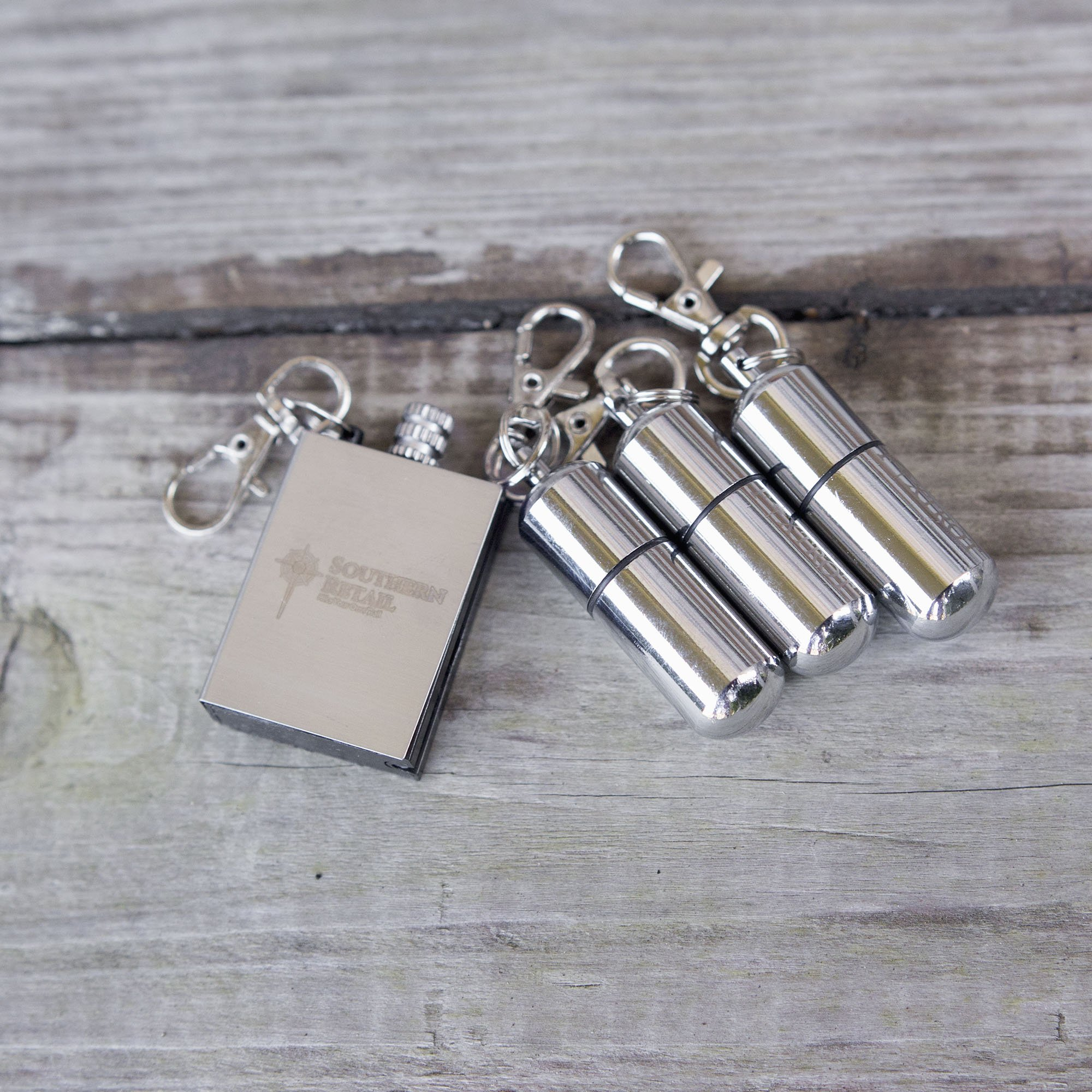 FOXTROT Survival Capsule Peanut Lighter X3 with Waterproof Shell includes Reusable Stainless Steel Matchbox Flint Striker by FOXTROT (Image #6)
