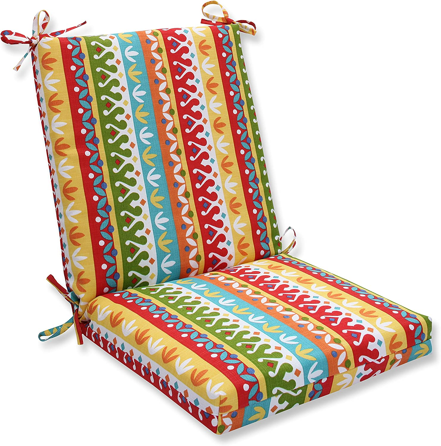 Pillow Perfect Outdoor Indoor Cotrell Garden Squared Corners Chair Cushion