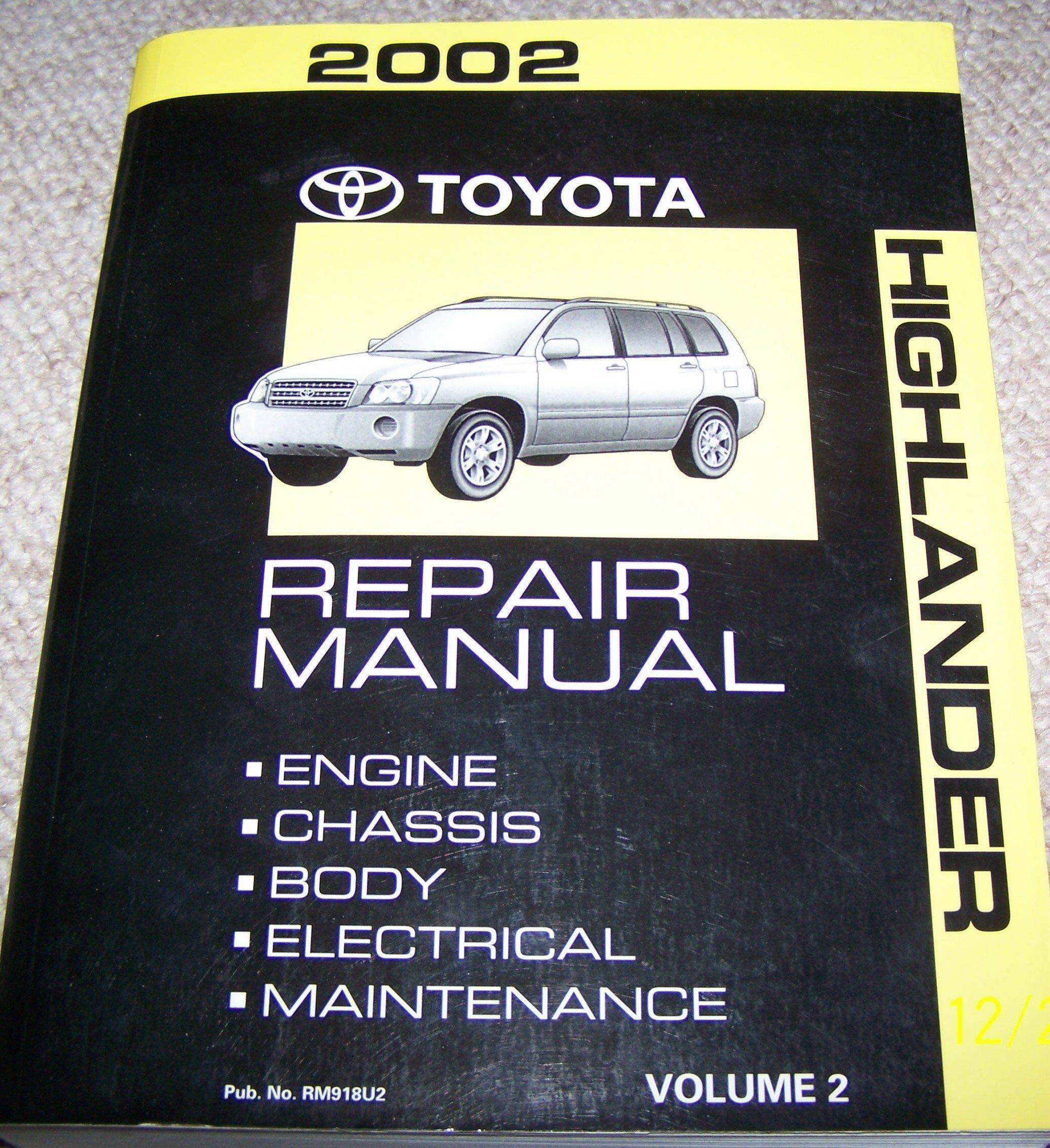 2002 toyota highlander repair manual volume 1 toyota motor corp rh amazon com 2004 highlander manual 2004 highlander manual