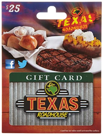 Amazon.com: Texas Roadhouse Gift Card $25: Gift Cards
