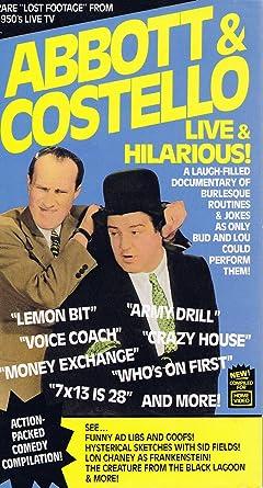 Amazon Abbott CostelloLive Hilarious VHS
