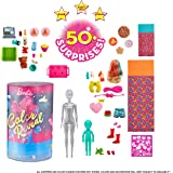 Barbie Color Reveal Set with 50+ Surprises Including 2 Dolls, 3 Pets & 36 Slumber Party-Themed Accessories; Water Reveals Dol