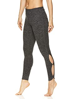 72f56994718 Gaiam Women s Om Yoga Pants - Performance Compression Full Length Spandex  Leggings