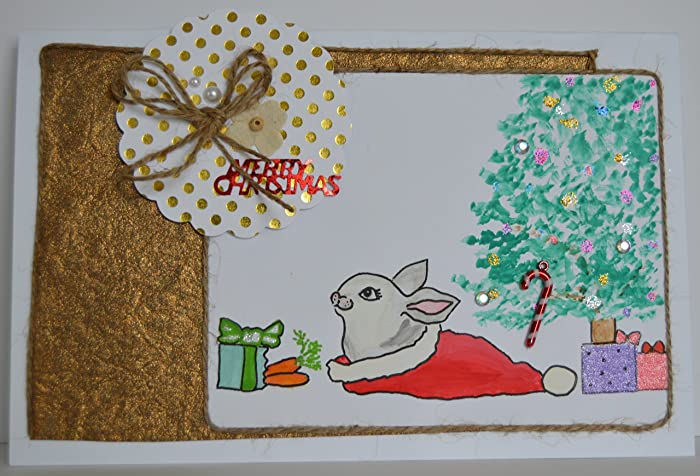 Amazon.com: Handmade Christmas greeting card with exquisite hand ...
