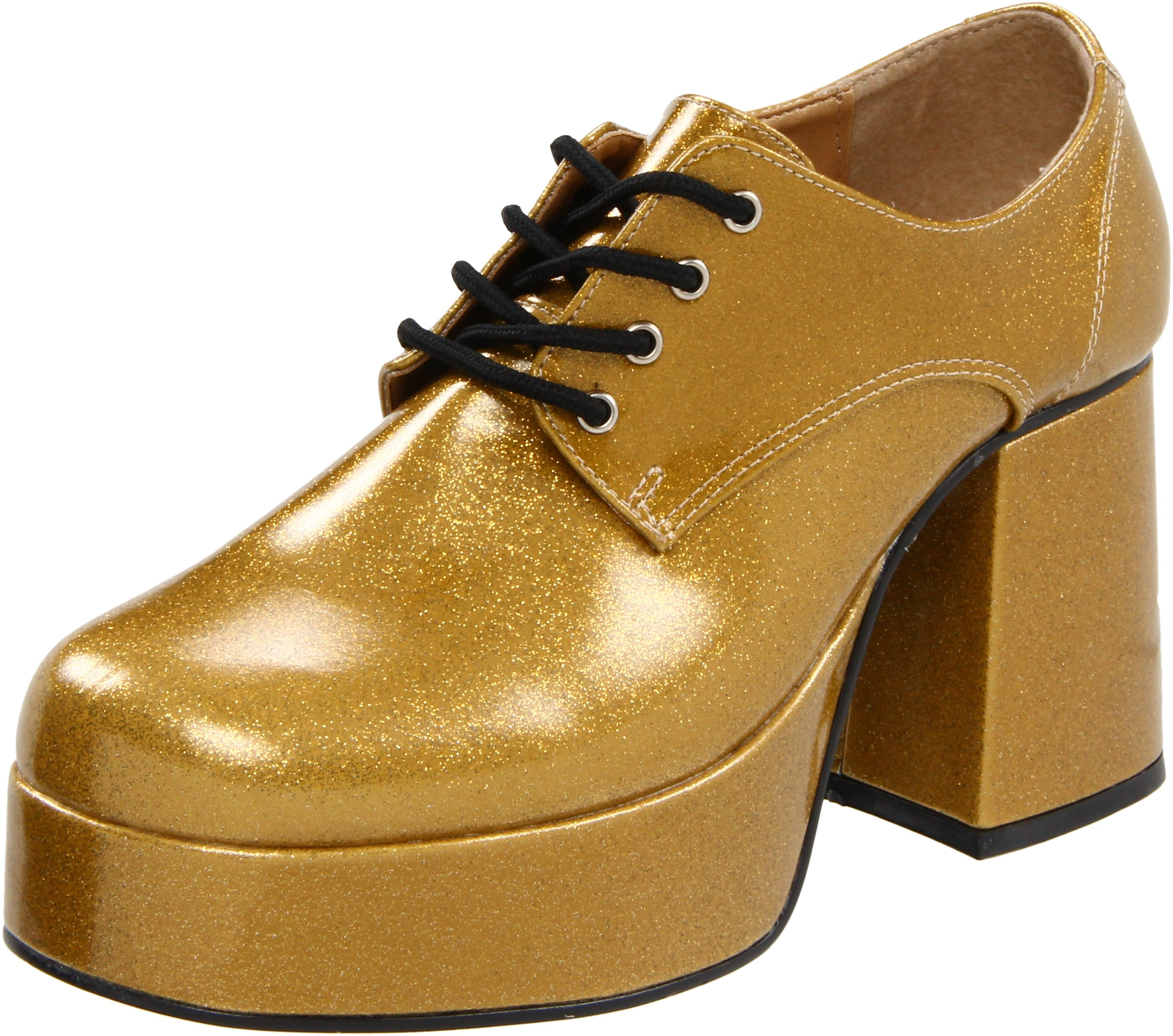Funtasma by Pleaser Men's Jazz-02 Platform Oxford,Gold Glitter,L